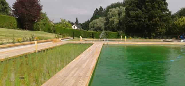 Baignade biologique cantonale de rugles equipements de for Prix piscine biologique